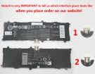 Dell 2H2G4 7.4V 5135mAh batterien, 2H2G4 laptop akku